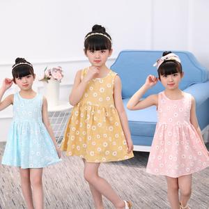 2018新款夏装韩版儿童公主连衣裙女童背心裙子童装洋气宝宝沙滩裙