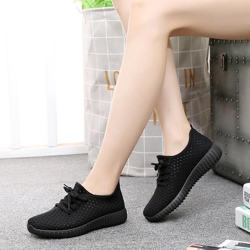 夏季新款网鞋老北京布鞋女鞋平底网眼网面透气休闲防滑运动跑步鞋