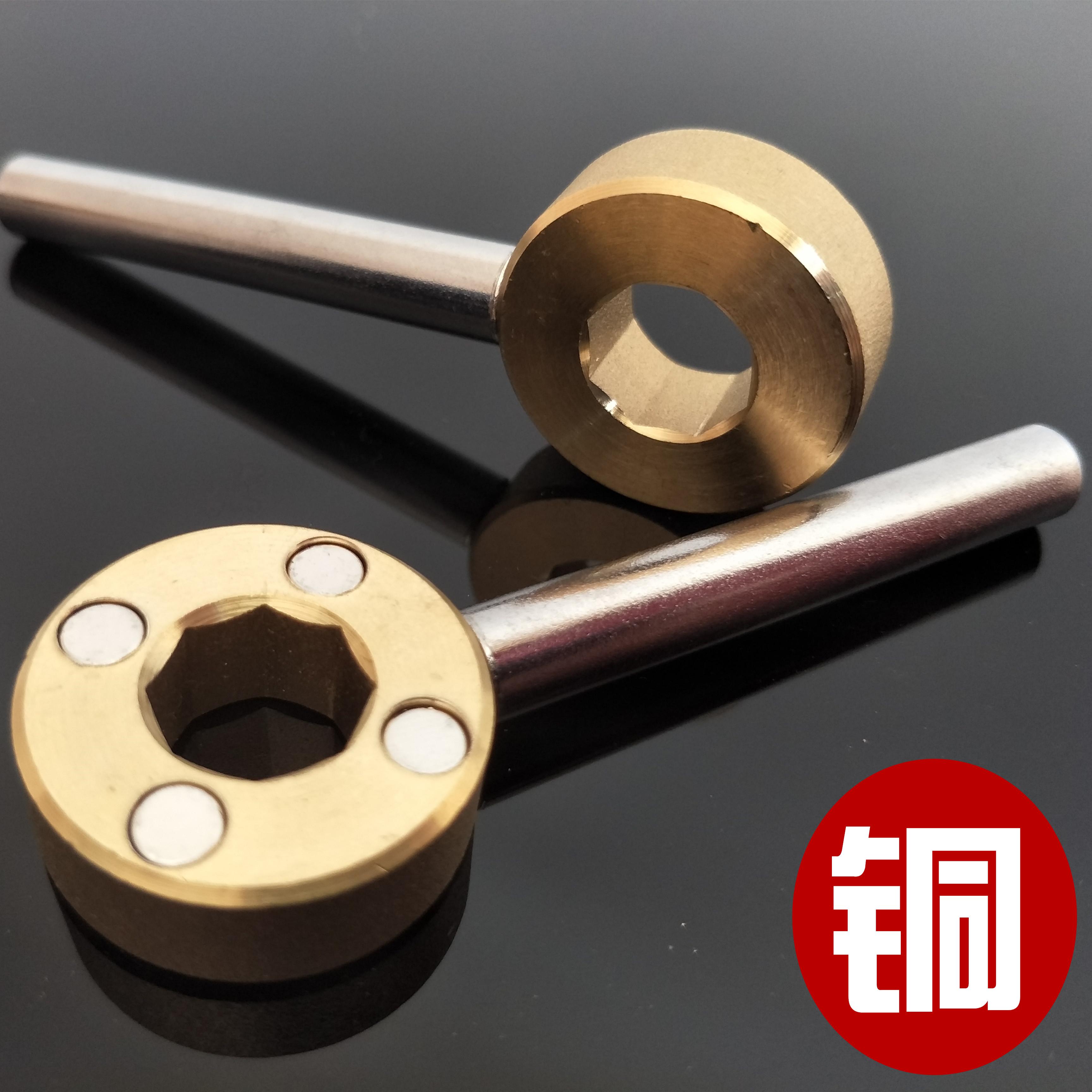 Soupape de chauffage de forme octogonale clé de soupape de verrouillage magnétique de l'eau du robinet, la soupape de commutation de paquet de clés de la clé d'ouverture