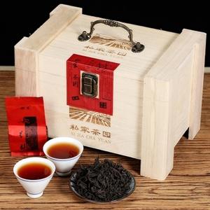 木质礼盒装节日送礼春茶武夷山岩茶高山乌龙茶浓香大红袍茶叶384