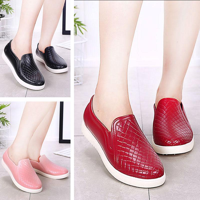 時尚雨鞋女成人低幫水鞋防滑雨靴韓國短筒廚房工作膠鞋水靴套鞋潮