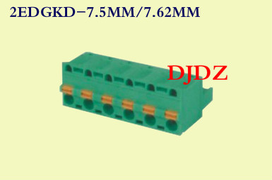 Pluggable PCB terminal / DG / KF 2EDGKD distancia 7,5 / 7.62MM agujero base de conexión de primavera