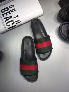 夏季男女士款防滑软底红绿条纹凉拖快手红人同款精神社会小伙拖鞋