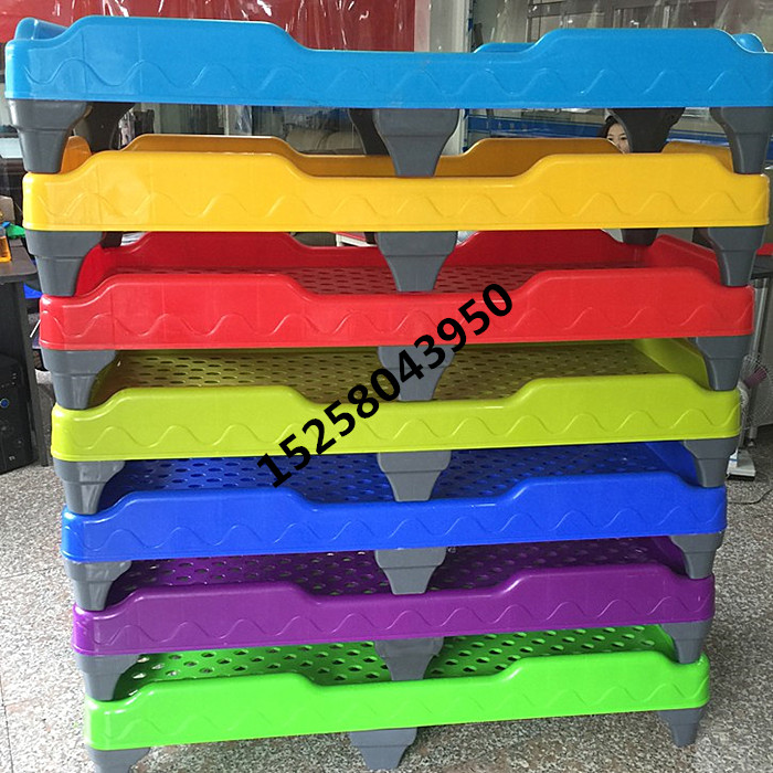 Kindergarten children special PVC environmental protection plastic injection integrated bed