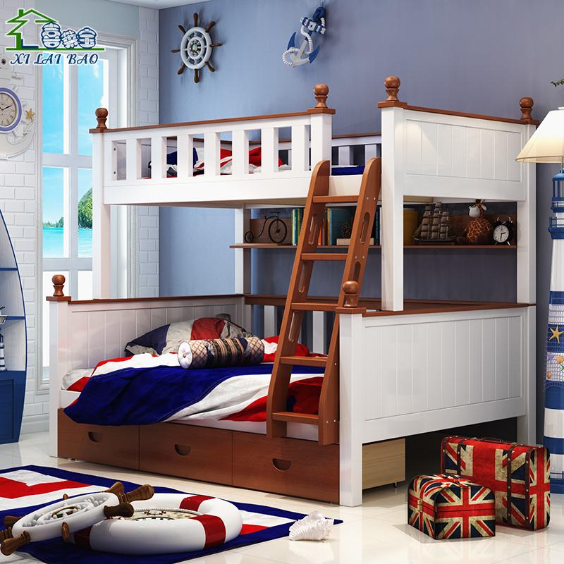 Hei Leybold etagenbett deal der Mutter - Tochter - Bett und aus dem Bett Kinder im Bett der Mutter im Bett Bett 中海子 komplett aus massivem Holz