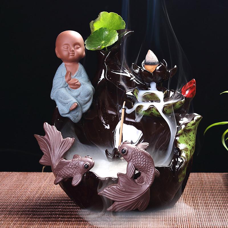 вспять кадило личности керамическая горелка печи аромат сандалового дерева кадило вспять поток бытовой счастливая великое украшения