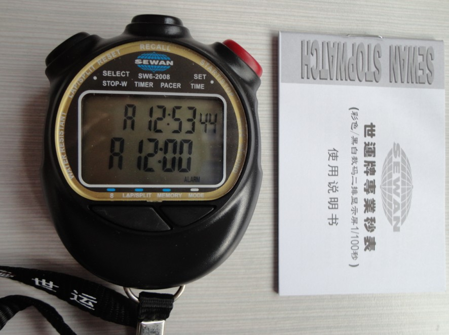 The genuine two rows of eight memory stopwatch, stopwatch with SW8-2008SW6-2008 professional sports