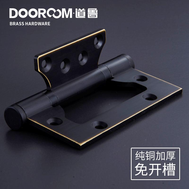 Mudo não Cobre toda a porta de Madeira Grossa com dobradiça dobradiça dobradiça dobradiça Preto 4 polegadas 1.