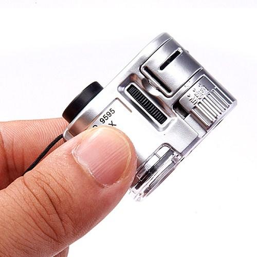 LUPA com Luz de 60 vezes a Altura vezes jóias Mini Mini microscópio de bolso para identificação de antiguidades