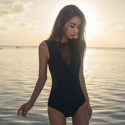 Swimming Suit South Korea's women slim body covered belly thin conservative hot spring swimsuit