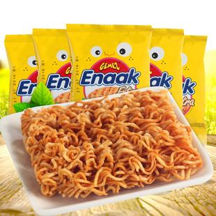 Gemez Enaak印尼进口小鸡干脆面烧烤鸡肉零食捏碎面方便面12包30G