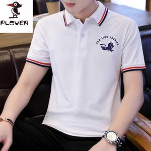 啄木鸟丅恤新款韩版潮流男士纯棉上衣服 短袖polo衫t恤长袖夏装体