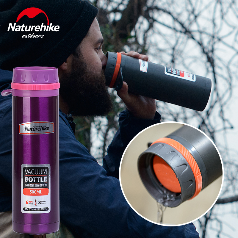 NH stainless steel vacuum insulation cup and outdoor climbing hiking and riding portable large capacity motor tea