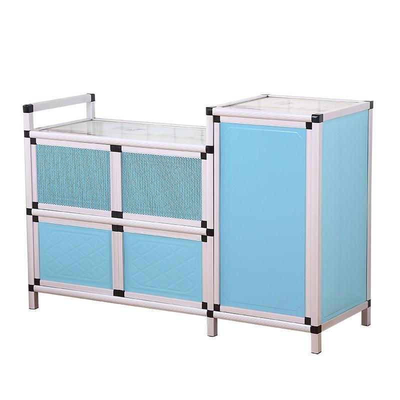 Armario de cocina simple casilleros de armarios de cocina simple té Gabinete Gabinete Gabinete balcón con cocina de gas
