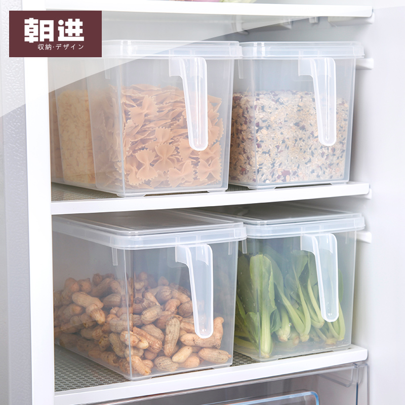 en enda multifunktionella kylskåp öppet stora rektangulära fält cement - enkel insekt spannmål flyttade köket