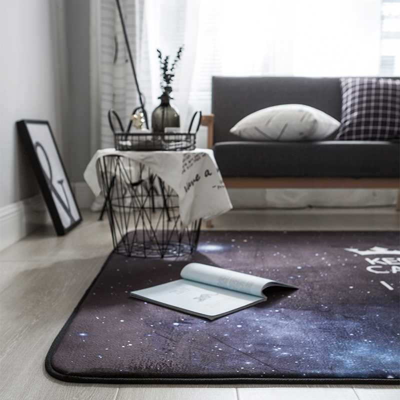 The living room bedroom carpet stars tide brand pattern on the tatami mat crawling pad nap rest rectangular pad