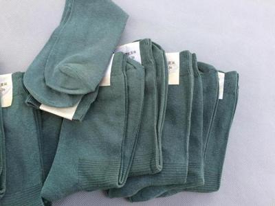 稀缺正品 抗菌预防脚气棉袜 橄榄色抗菌袜子 抗菌防臭袜