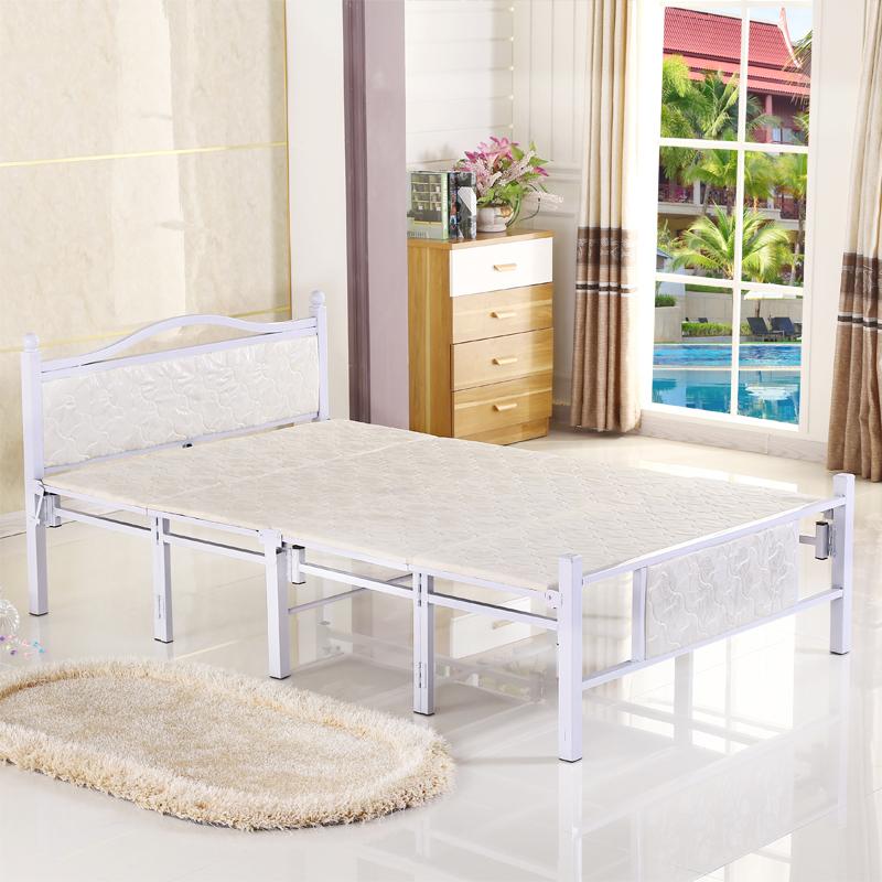 La cama de las sábanas de la cama plegable que simple refuerzo de la Oficina de los niños la tarde almuerzo cama cama doble de madera de la cama