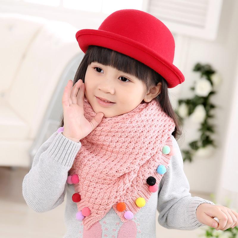 韩版冬季儿童小围巾男童围脖秋冬公主宝宝小孩保暖毛线女童脖套