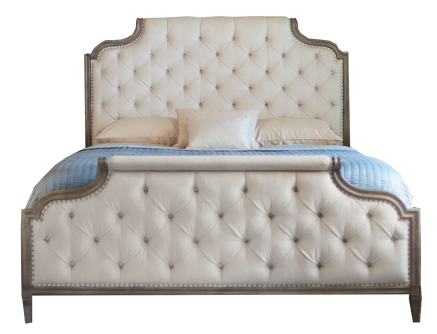 ORDER sunken furniture, American style, old double bed, French country simple style solid wood bed cloth bed