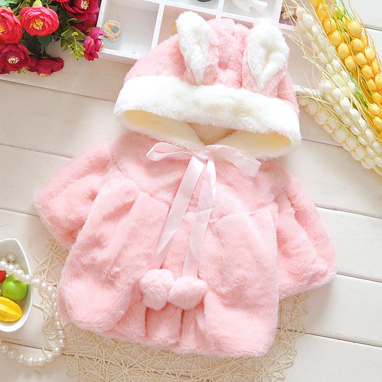 婴幼儿0-1-2-3岁女宝宝秋冬装新款女童冬季棉袄外套棉衣加绒加厚