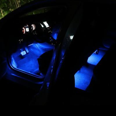 汽车车内氛围灯改装点烟器气氛灯led灯脚底灯七彩声控音乐节奏灯