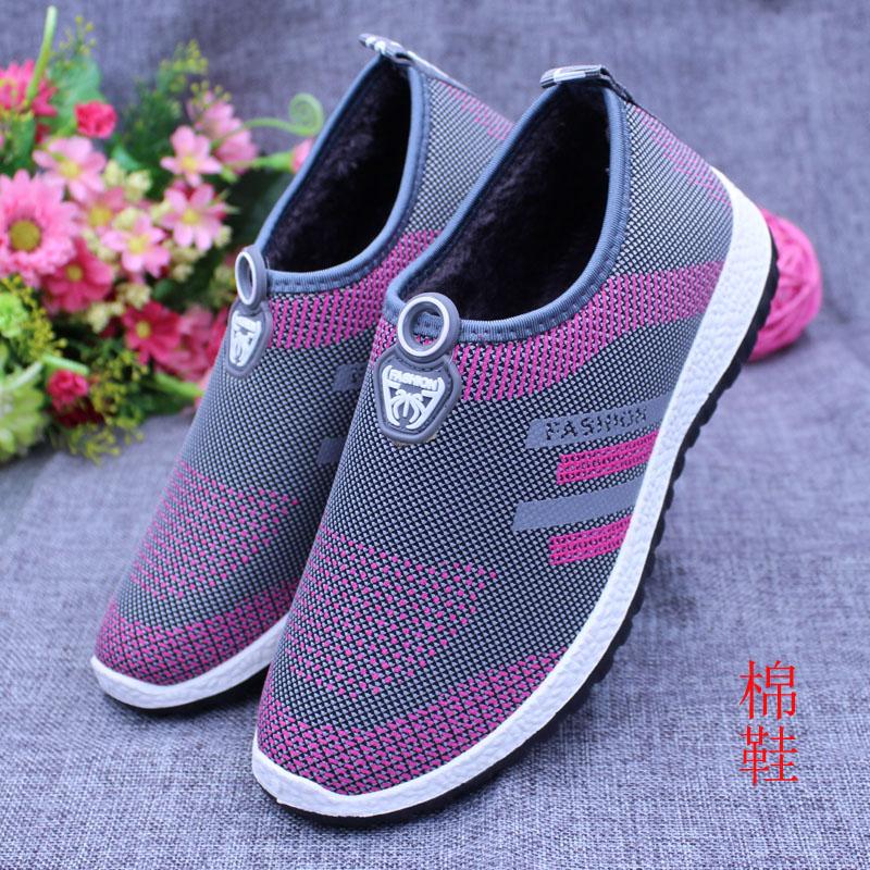 中老年女鞋秋鼕季老北京布鞋棉鞋女老人奶奶保暖鞋防滑加絨媽媽鞋