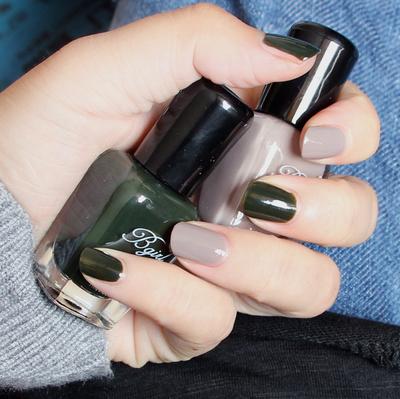 正品环保无毒指甲油快干不易掉持久不可剥套装组合深墨绿色棕灰色