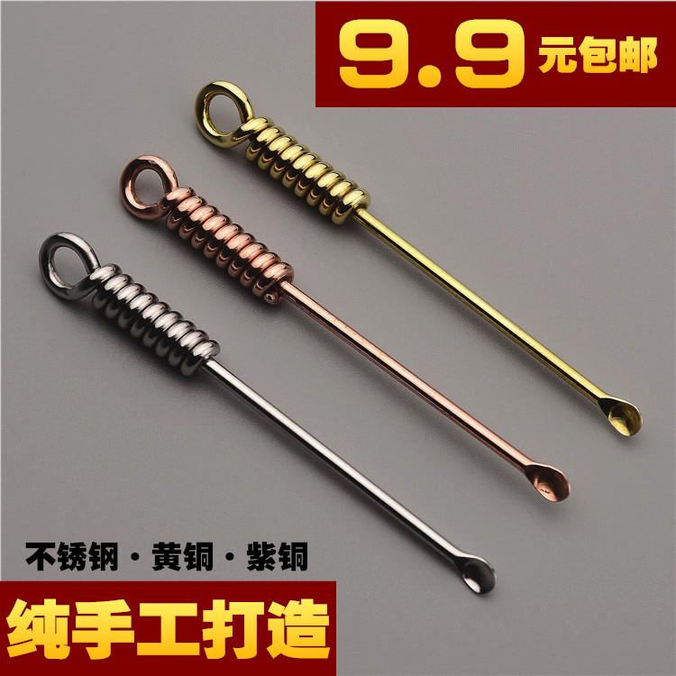 纯手工不锈钢挖耳勺纯铜挖耳勺掏耳朵神器创意挖耳勺采耳屎工具