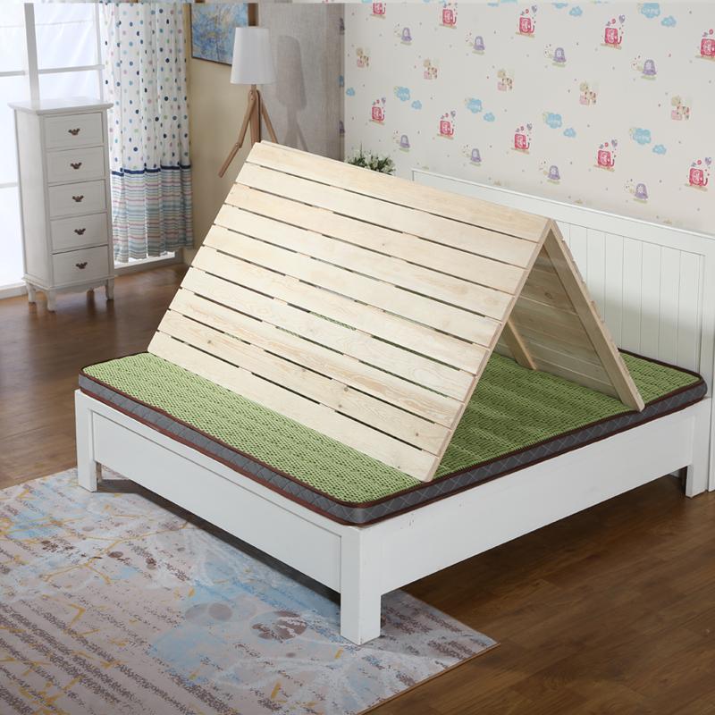 特価松木木造硬折りたたみベッド枚の板1.21.51.8メートル列児童骨格あつらえる
