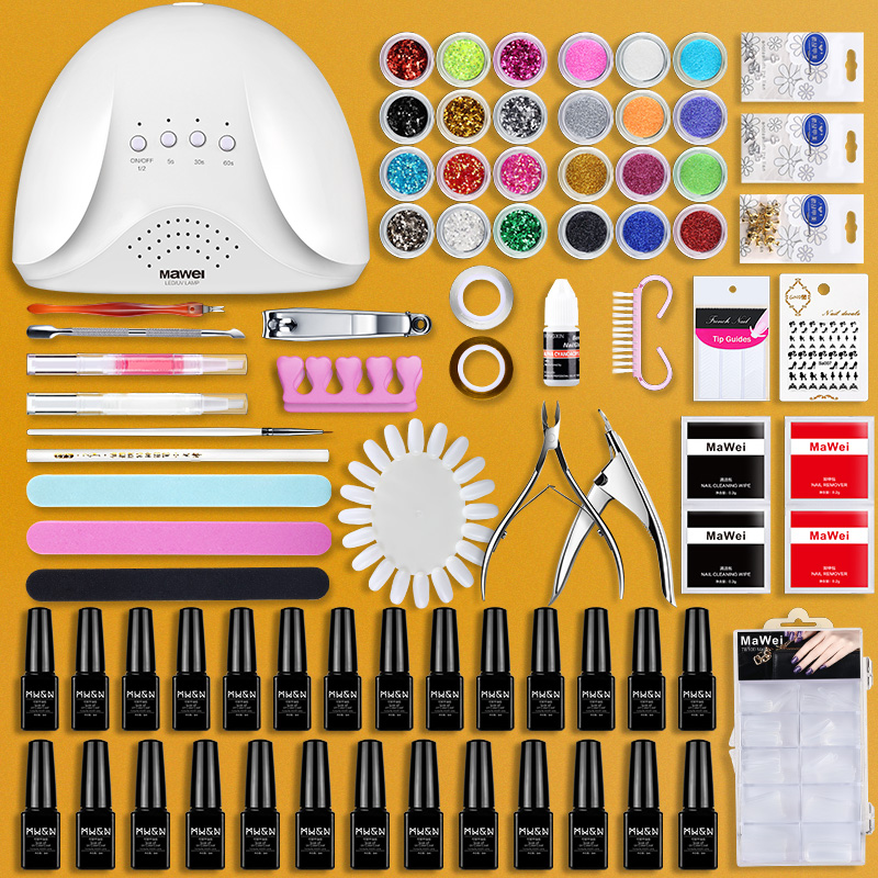 Package Nail Kit kit set up shop for beginners to do nail polish gel sets, phototherapy machine, light nail kit