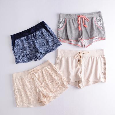 夏季新款短裤休闲热裤  加肥加大松紧腰宽松显瘦沙滩裤居家阔腿裤