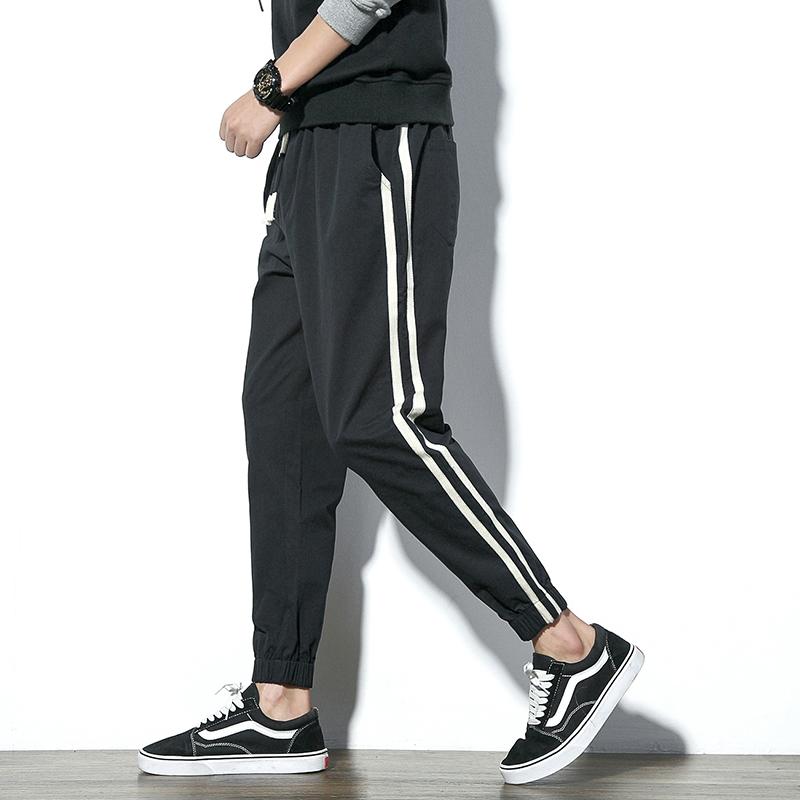 休闲裤男士韩版潮流修身运动哈伦裤2017青少年日系学生九分束脚裤