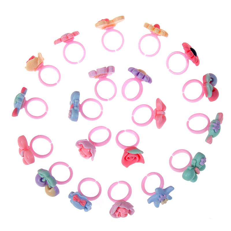 儿童宝宝女童小公主首饰品奖品礼品赠品玩具卡通塑料圈小戒指