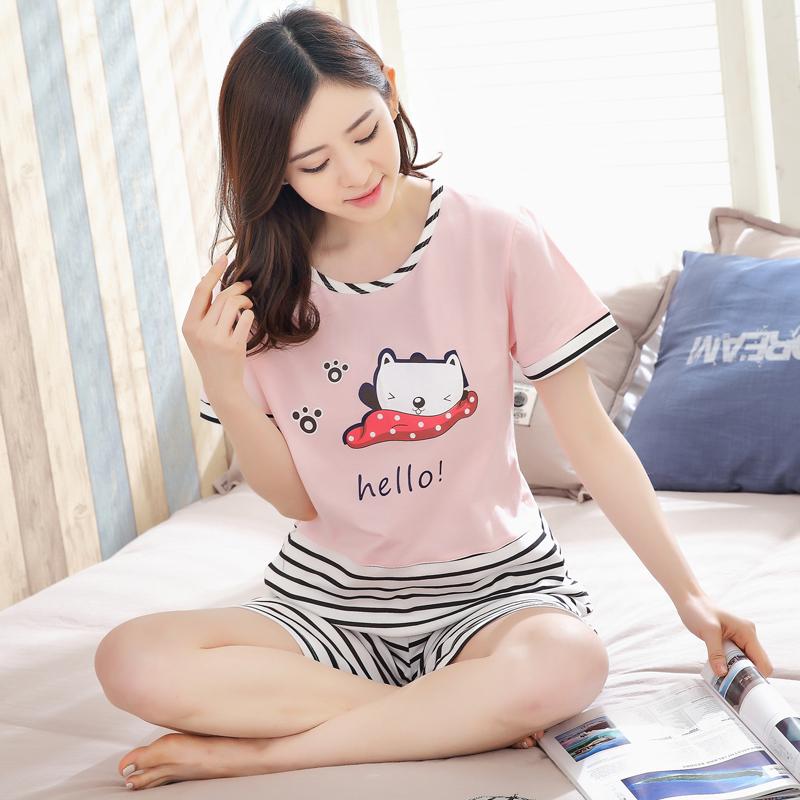 【短袖】6550瞌睡条纹猫