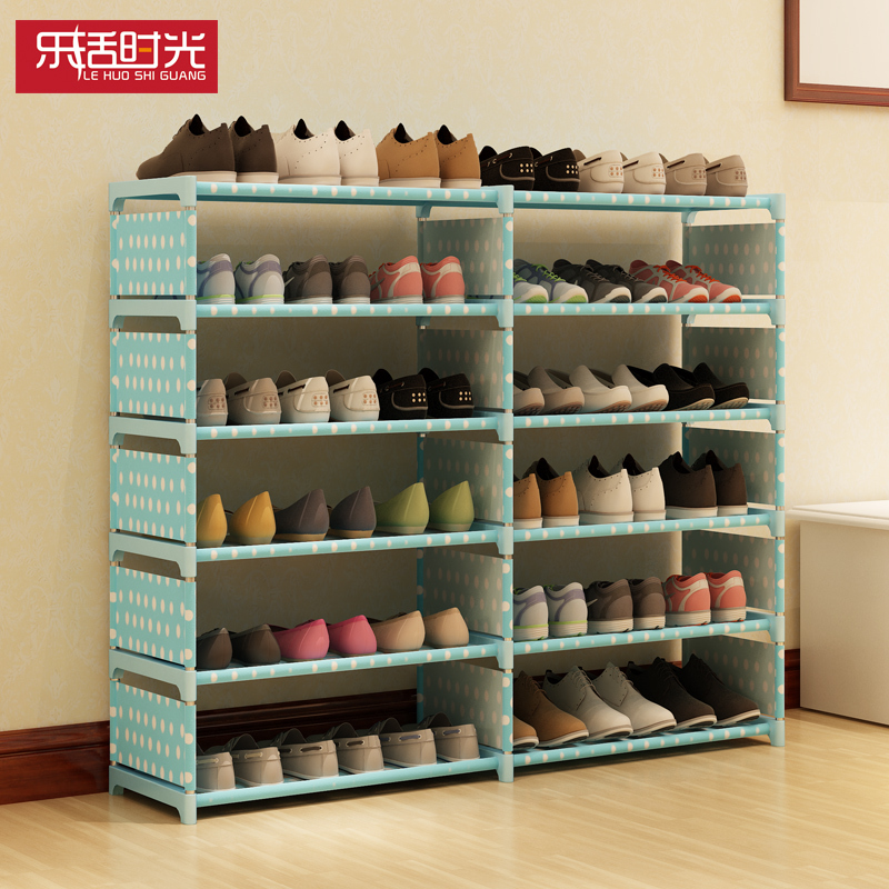 Simple bedroom dormitory shoe steel double multilayer shoe non-woven students special offer economy