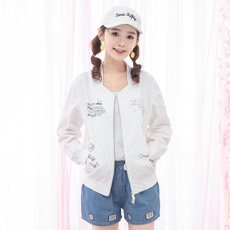 Áo khoác/Đồ bóng chày/Áo nữ ôm sát dáng ngắn phong cách Hàn Quốc phong cách học sinh mẫu mới nhất phù hợp cho mùa xuân liền mũ