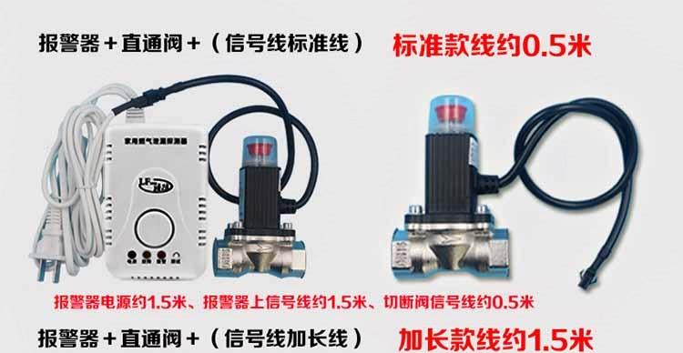 Válvula de Corte de tubos de gás de USO doméstico DIAS de Fuga de gás liquefeito, válvula de segurança, válvula de alarme