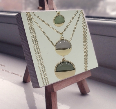 多层宝石镶嵌长款项链毛衣链女式新款时尚百搭个性吊坠配饰饰品