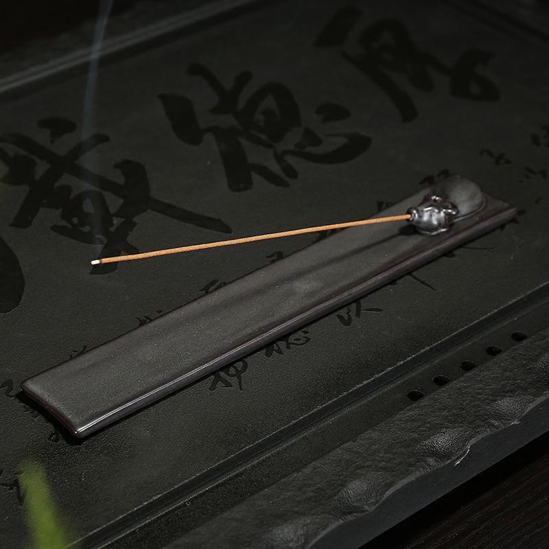 禪意祥牛香插香座香插家用創意臥室陶瓷線香爐創意仿古功夫佛具用品檀香香薰爐