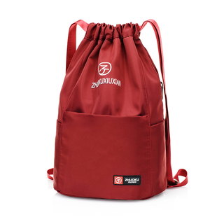 2020新款牛津布抽绳束口袋双肩包女水桶尼龙布运动旅行大容量背包