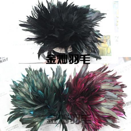 Крашеные куриные перья DIY Аксессуары для массового пух около 600 брошь материал Хооп серьги Колье
