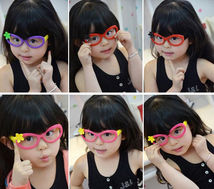 韩国潮眼镜儿童配饰可爱玩具女童蝴蝶结韩版眼镜框男童小孩宝宝萌