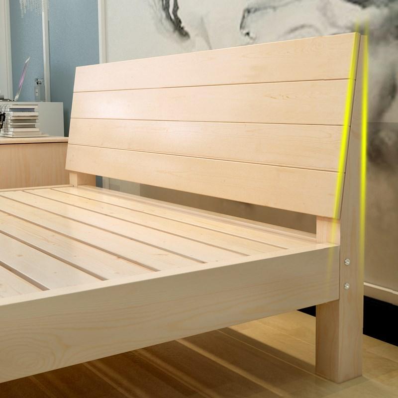 Einfache einfache Kiefer - 1.2 - Wirtschaft - 1,5 m komplett aus massivem Holz schlafzimmer schlafzimmer doppelbett 1,8 Meter