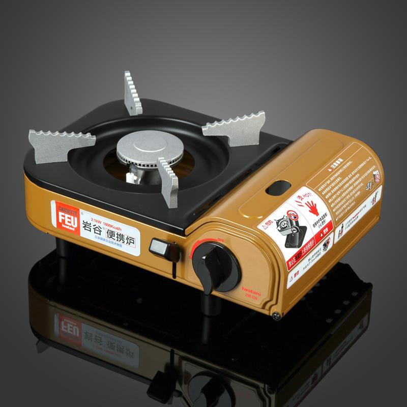 Аутентичные компактный портативный мини - плита газовая печь печь zm-6w газа открытый лагерь Хого