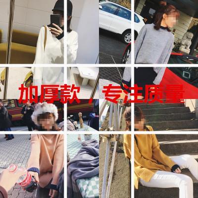 实拍. #BIGKING 7099 [már ki egy nagy család 百搭) színes 打底 毛衫 fél garbó pulóvert