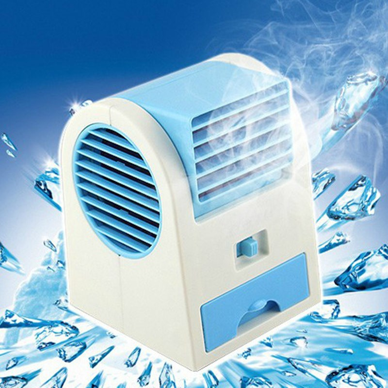 Mini handheld handheld portable refrigeration air conditioning fan leaves dormitory small fan D