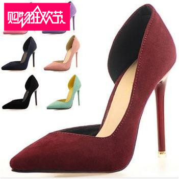 Pointed Toe Suede Red Bottom High Heels Women Pumps 5 colors