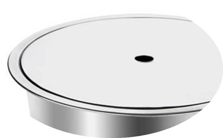 Nhúng lẩu lò vi sóng phẳng tròn khảm chìm tròn bàn hoàn thành vòng thép không gỉ cửa hàng nồi lẩu.