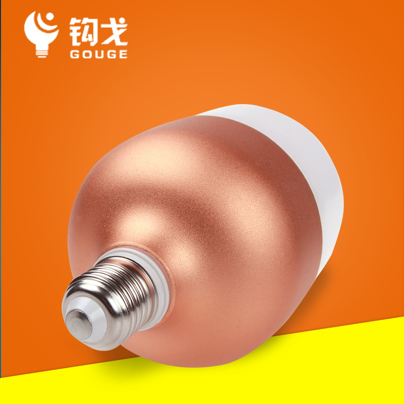 Une ampoule à del E27E40 nervure supérieure de l'ampoule à économie d'énergie 50W0W75W jaune de bulles de grande puissance à la lumière blanche